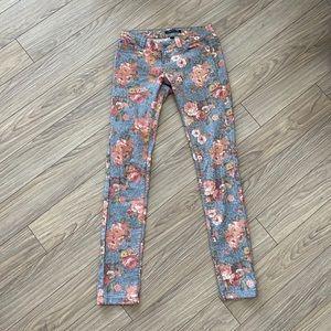 Denim - Floral Jeans